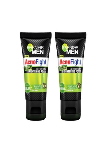 Garnier [Bundle of 2s] Garnier Men Acno Fight Wasabi Anti-Bacteria Brightening Foam 100ml E1233BEF81BCB7GS_1