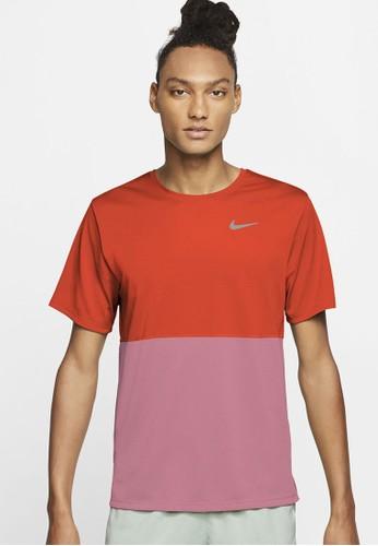 Nike orange AS Men's Breathe Running Top 67CCCAAD20AA10GS_1