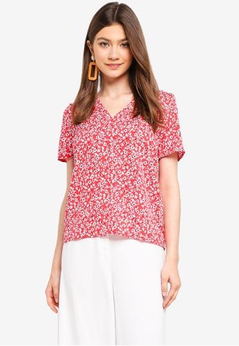 Pieces red Kiva Short Sleeve Top 71012AAD90DE0EGS_1