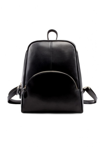 Lara black Trend Winter Leather Backpack 456BCACE64B063GS_1