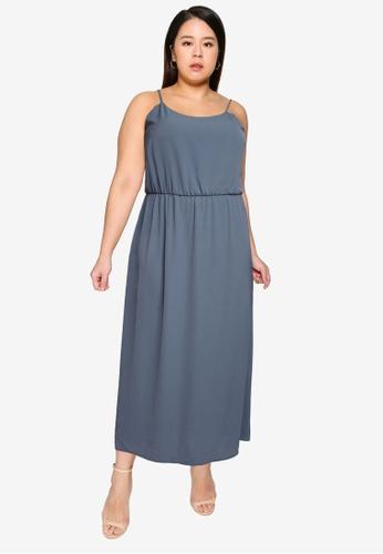 Only CARMAKOMA blue Plus Size Luxina Dress 2C4AEAA2802331GS_1