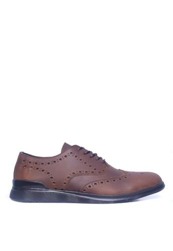 Toods Footwear brown Humblepaps Oxford Wintip - COKELAT B1B1CSH7B68CD8GS_1