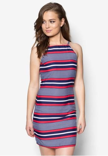 撞色條紋連身裙,esprit 台北 服飾, 服飾