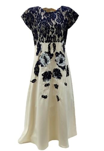 Versail beige Versail Teen Dress Brukat Mutiara PS7135C 190F4KA4140748GS_1