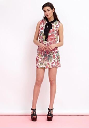 絲質印esprit分店地址花無袖洋裝, 服飾, 短洋裝