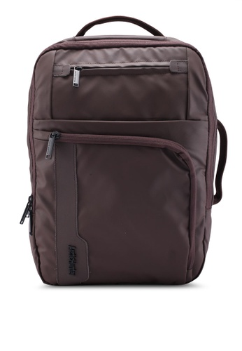 Bagstationz brown Premium Multi Compartment Laptop Backpack 69D4BAC8D9935CGS_1