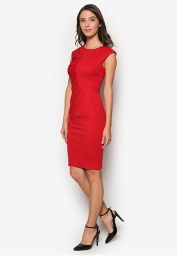 抓褶esprit台灣網頁及膝連身裙, 服飾, Dress To Impress