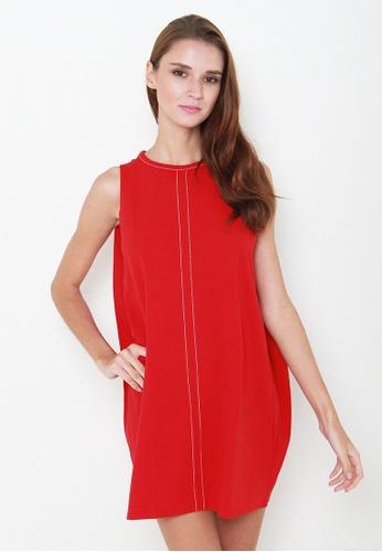 Leline Style red Rayne Shift Dress LE802AA84JETSG_1