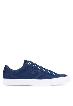 converse shoes black and blue. converse blue and navy star player ox sneakers co302sh0rdw9my_1 shoes black