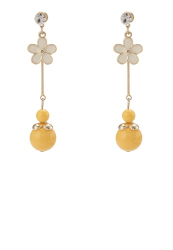 Double Round Actylic Drops Daisy Earringsesprit outlet, 飾品配件, 耳釘