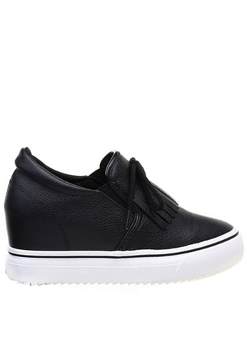 Twenty Eight Shoes black Tassel hidden heel slip-ons TW446SH57UEGHK_1