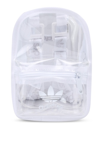 ADIDAS white mini transparent backpack F1992ACEEFD248GS_1