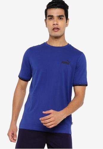 PUMA blue Amplified Men's Tee 4F501AA0782BBEGS_1