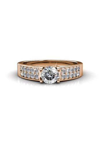 044069298a4 Her Jewellery gold Lush Ring (Rose Gold) - Embellished with Crystals from  Swarovski®