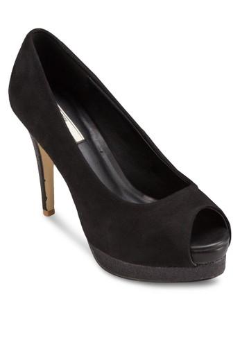 露趾厚底細跟高跟鞋, 女鞋,esprit女裝 厚底高跟鞋