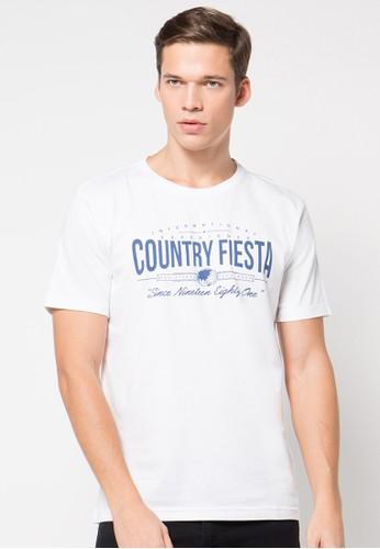 Country Fiesta white Tshirt Short Fashion CO129AA42RARID_1