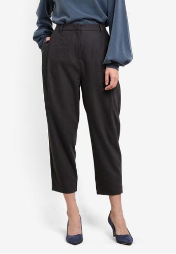 Selected Femme grey Macy Cropped Pants SE157AA0SEDLMY_1