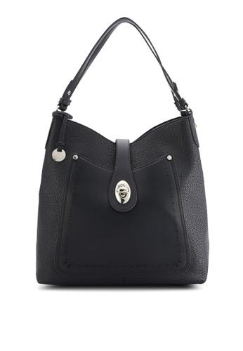 Obermain black Dafia Shoulder Bag (L) OB115AC08ZWXMY_1