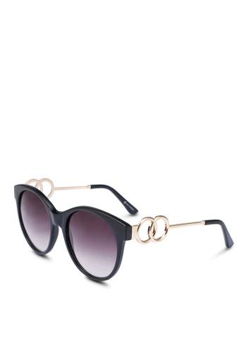 Call It Spring black Acirama Oval Sunglasses 7DB00GLA3D7D8FGS_1
