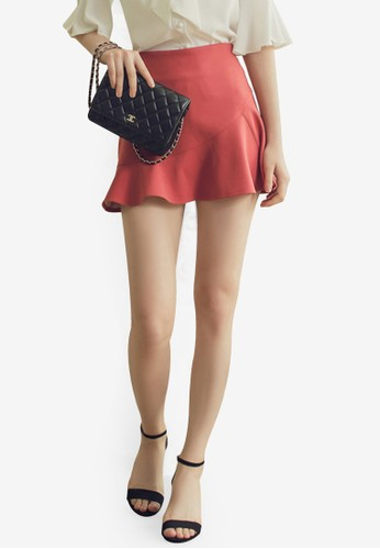 Eyescream red Frill Mini Skirt 691FFAAD2C5426GS_1
