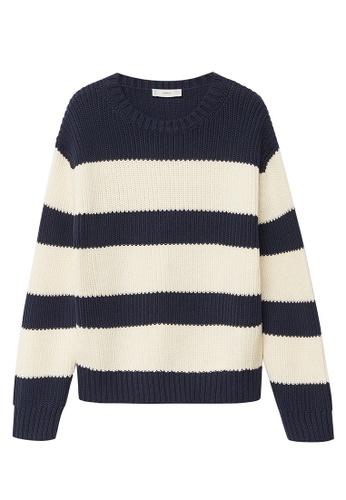 MANGO KIDS blue Striped Cotton-Blend Sweater DCEEDKAF59EDF7GS_1