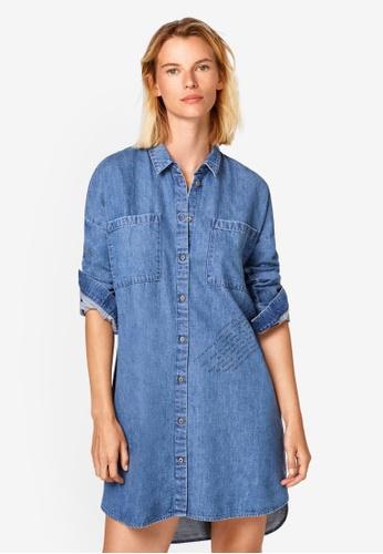 ESPRIT blue Denim Shirt Dress 88101AAAFF51B8GS_1