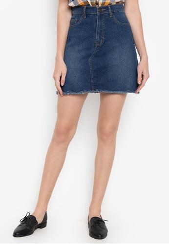 NEXT blue Denim Mini Skirt 2CD57AAC069A6EGS_1
