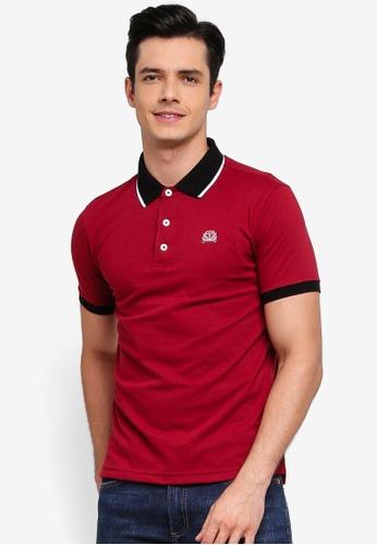 Volkswagen 紅色 短袖POLO衫 E6A2FAAF2F2637GS_1