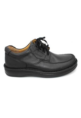 midzone black Leather Formal Lace Up Shoes MI949SH34LYJMY_1