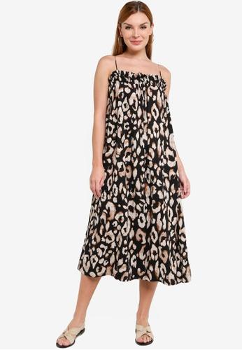 H&M black and multi Sleeveless Dress 236D6AAD0881C7GS_1
