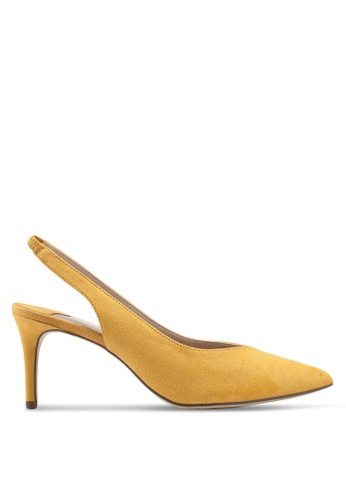 1bf6a3472be Wide Fit Yellow Essie Court Heels