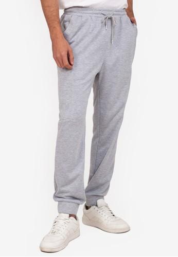 ZALORA BASICS grey Side Zip Track Pants 45601AA50C43A8GS_1