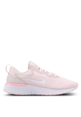 Nike white and pink Women's Nike Odyssey React Running Shoes F6EDASHE090940GS_1