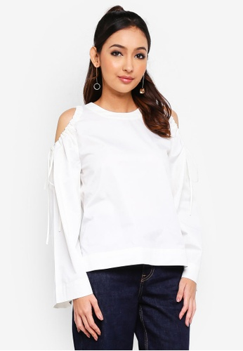 Alia B. white Rosalind Boxy Top 52E87AA1CE50A9GS_1