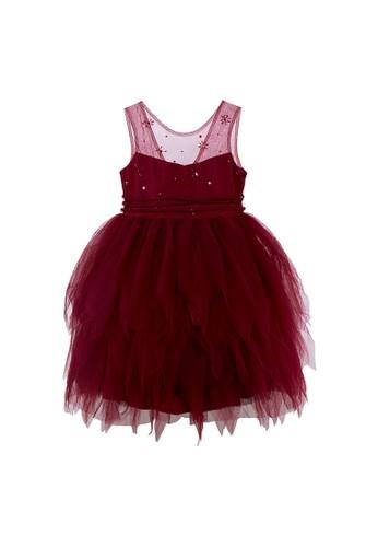 Luna Luna red Amber Tulle Dress 56FFAKA7626A90GS_1