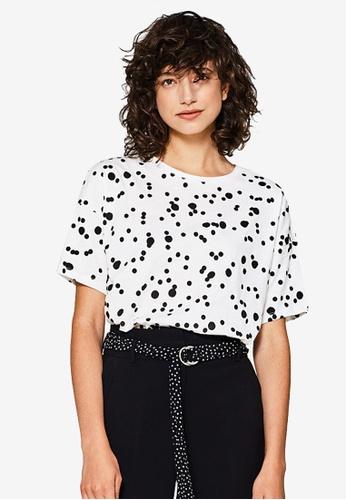 ESPRIT white Short Sleeve Regular T-Shirt 8F6CAAAE2E0843GS_1