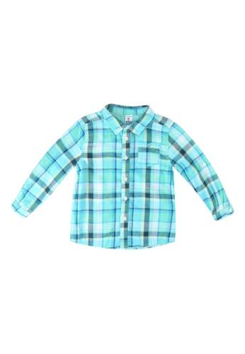 LC Waikiki green Baby Boy Plaid Shirt 6B058KA1F5A409GS_1