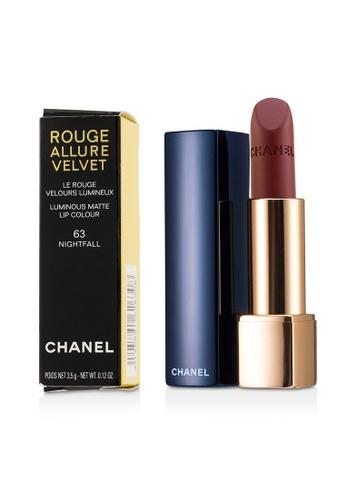 CHANEL CHANEL - Rouge Allure Velvet - # 63 Nightfall 3.5g/0.12oz B9538BE223ADCFGS_1