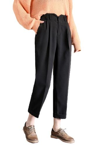 Halo black Simple Cropped Pants 1AE63AA6AF1256GS_1
