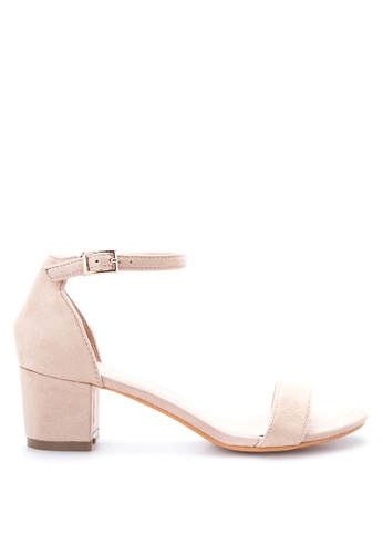 Shop Sofab! Jonas Ankle Strap Block Heel Sandals Online on ZALORA ...