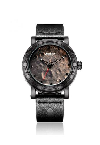 Assassin's Time black Assassin's Time MOONWALK Black Leather 8253EAC33C0601GS_1