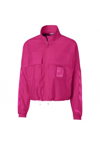 puma pink Evide Woven Women's Track Jacket 93B93AAA583978GS_1