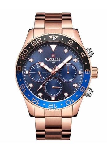 Naviforce blue Naviforce Rose Gold, Blue and Black Watch 41146ACA6C0E0FGS_1