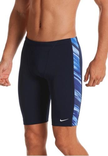 Nike navy Nike Swim Men's Sky Stripe Jammer 0D256USFB6B50CGS_1