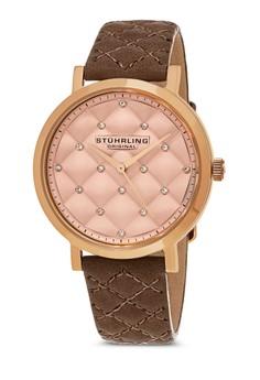 Audrey 閃鑽菱格紋圓錶