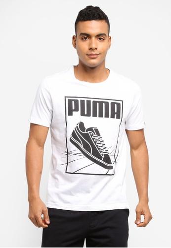 Puma white Puma Track Tee PU549AA0SWIEMY_1