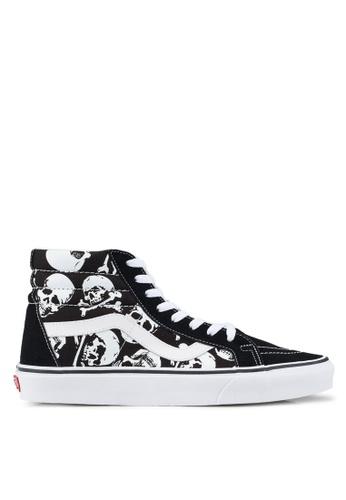 VANS black and white SK8-Hi Reissue Skulls Sneakers 44710SH089F49FGS_1