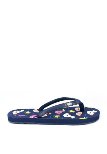 Ripples blue Summer Floats Flip Flops 298F5SH0F20415GS_1