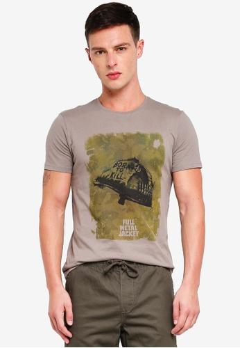 OVS 灰色 棉 短袖T恤 78AE3AAFFC1DBFGS_1