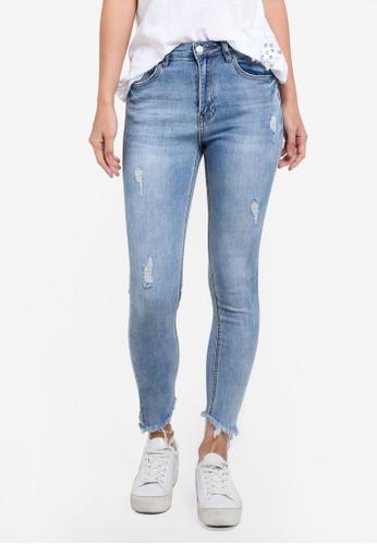 Supre blue The Classic Crop Fringe Jeans SU225AA0SAOEMY_1